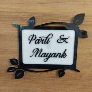 Petals Acrylic decorative name plate