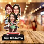 Birthday Gift for sisters – Friends caricature standee