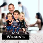 Family caricature standee