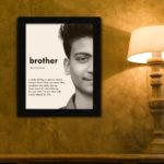Personalized rakhi gift for brother