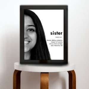Personalized gift for sister