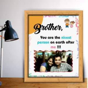 Personalized gift for brother